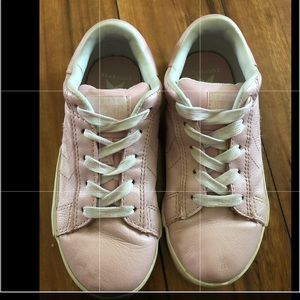 Converse All Star Pink Leather Girls Sneaker 3Y